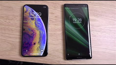 sony xperia xz3 vs iphone xs speed test