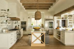 this house kitchen cabinets grey granite counter tops open shelving with white base cabinets and wooden ceiling beams