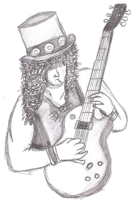 guns and roses coloring page slash guns n roses by color10 on deviantart