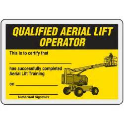 forklift operator certification card template qualified aerial lift operator card ehs templates