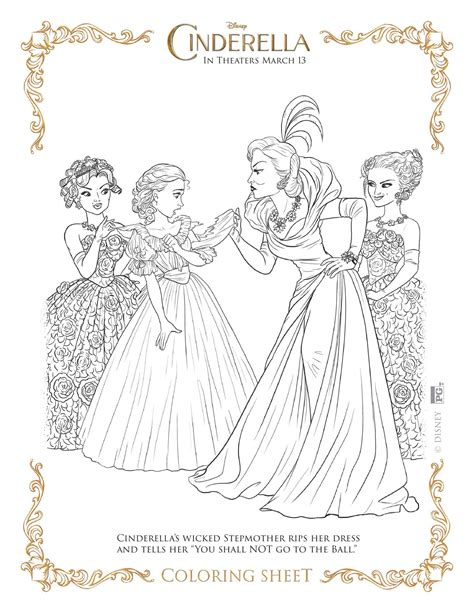 coloring pages of cinderella 2015 new disney s cinderella coloring pages and activity sheets