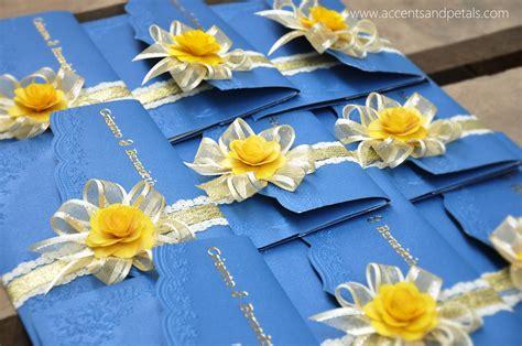 Wedding Invitation Yellow And Blue by Wedding Invitation Royal Blue And Yellow Matik For