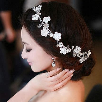 Sirkam Pearl Rhinestone Wedding Jewelry U Hairpin Harga 1pcs handmade renda pengantin hiasan kepala bunga kepala bunga hiasan rambut handmade pearl wedding
