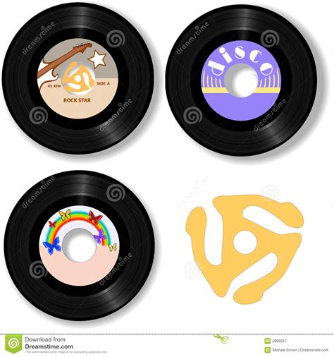 Roll Records 45 Rpm Oldies Rock Records Spindle Royalty Free