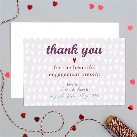 Personalised Wedding Gift Thank You Cards - personalised engagement or wedding thank you card by molly moo designs