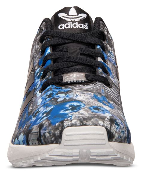 Sepatu Adidas Zx 8000 Pria Casual Sporty Made In Asli Import lyst adidas originals s zx flux floral print running sneakers from finish line in blue for