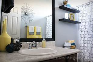 Grey Bathroom Decorating Ideas by Fit Crafty Stylish And Happy Guest Bathroom Makeover