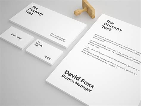 free stationery mockup template pixlov
