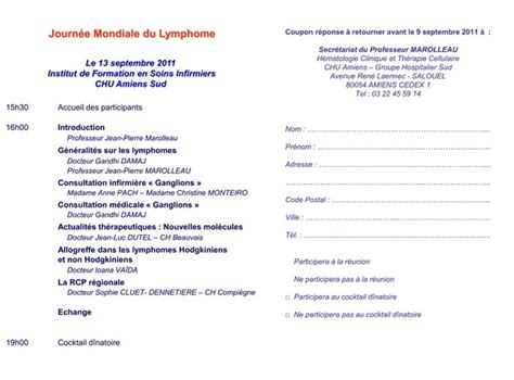 Exemple De Lettre D Invitation A Un Seminaire Association De Malades Du Lymphome Ou Cancer Des Ganglions Un Cancer Du Sang Touchant Les