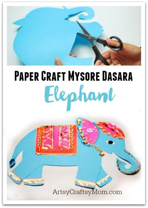mysore dasara elephant paper craft indian elephant