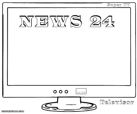 tv coloring pages coloring pages to download and print