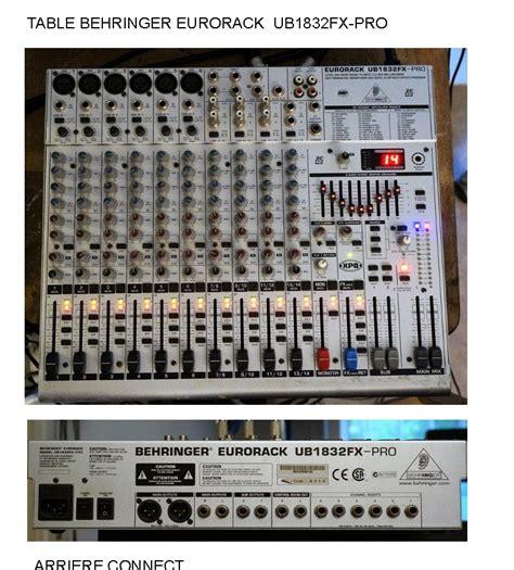 Mixer Behringer Ub1832fx Pro behringer eurorack ub1832fx pro image 1432005