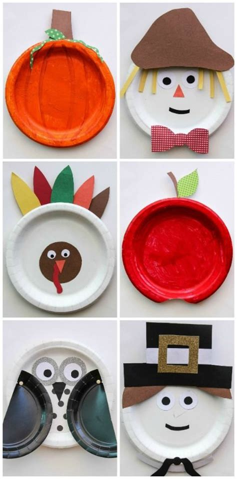 Paper Plate Fall Crafts - fall paper plate crafts for for