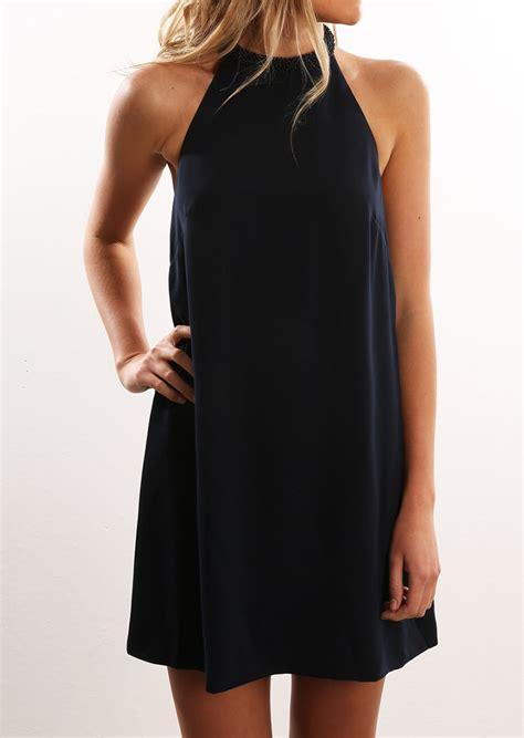 Halter Backless Dress solid backless halter mini shift dress fairyseason
