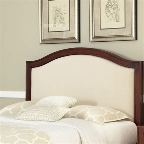 upholstered headboard styles home styles duet queen camelback headboard with oyster