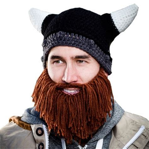 knitted beard beard heads barbarian looter knit hat bh1002