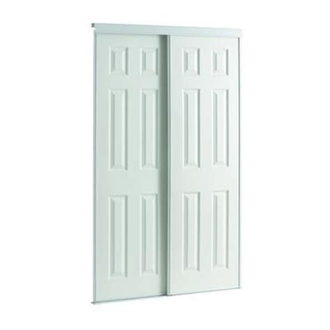 bedroom doors home depot veranda 60 inch white framed 6 panel sliding door