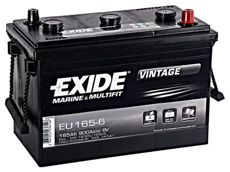 EU165 6 6v Exide Battery 541 3A9