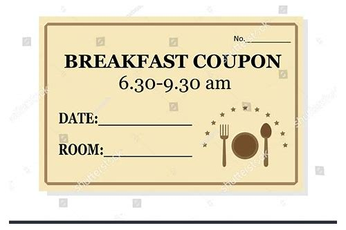 free breakfast coupon template