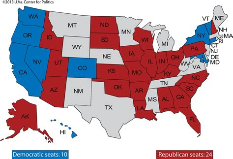 us map of republican and democratic states larry j sabato s 187 senate 2014 and beyond