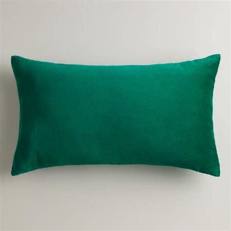 emerald green velvet lumbar pillow world market