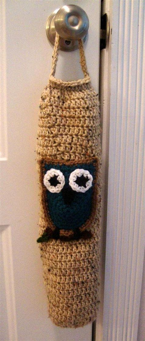 crochet pattern for trash bag holder 16 best crochet grocery bag holders images on pinterest