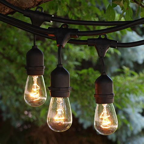 led patio string lights backyard string lighting weather resistant outdoor lights
