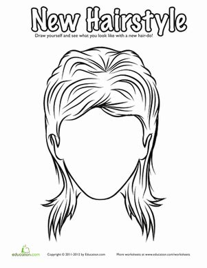 coloring pages hair hair coloring pages education com