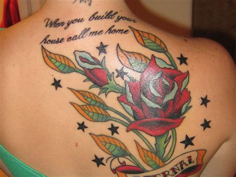 rose tattoos with quotes quotesgram