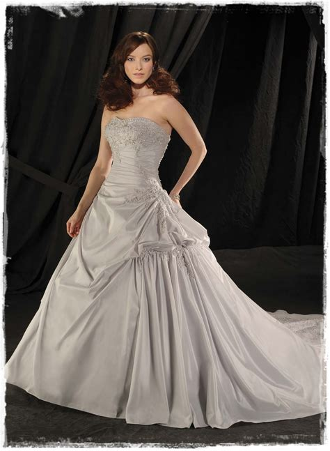 Silver Wedding Dresses by Shimmering Silver Wedding Gowns
