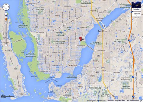 map of cape coral fl english page 2
