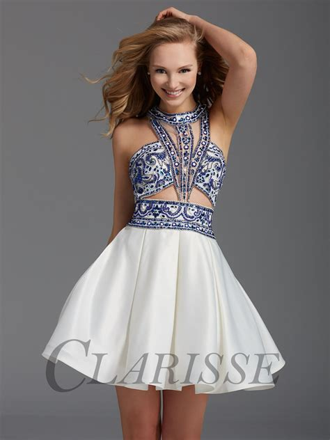 Homecoming Dresses by Clarisse White And Royal Homecoming Dress 2922