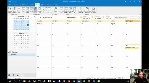 View 2016 Calendar How To Change From List View To Day Calendar In Outlook