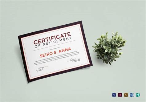 Retirement Certificate Templates by 9 Retirement Certificate Templates Doc Pdf Free