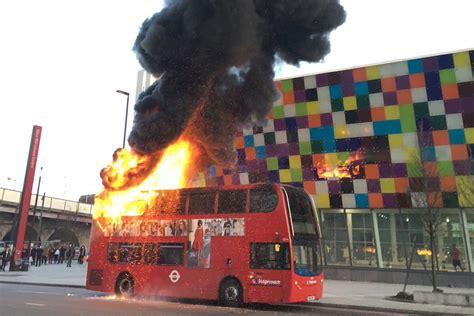 lewisham bus fire double decker engulfed  flames