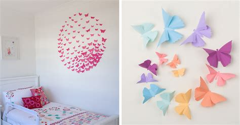paper wall decorations  fix boring flat walls