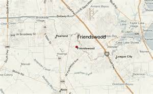 friendswood map friendswood location guide