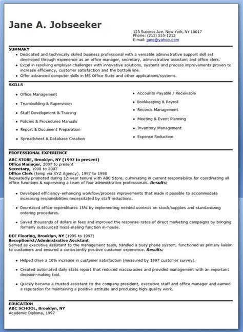 Office Manager Resume Samples   Resume Downloads