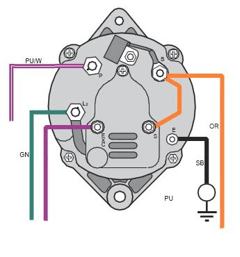 1999 volvo penta sx 4 3gl pwtr alternator wiring