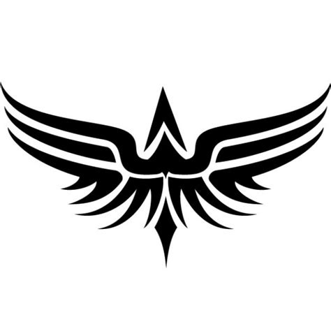 tribal wings tattoo vector clip art vector free download