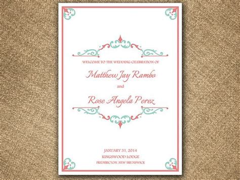 half fold wedding program template antique chic half fold wedding program template microsoft