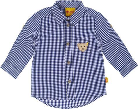 wandlen kopen steiff karohemd mit kleinem teddy patch 187 hemden blusen