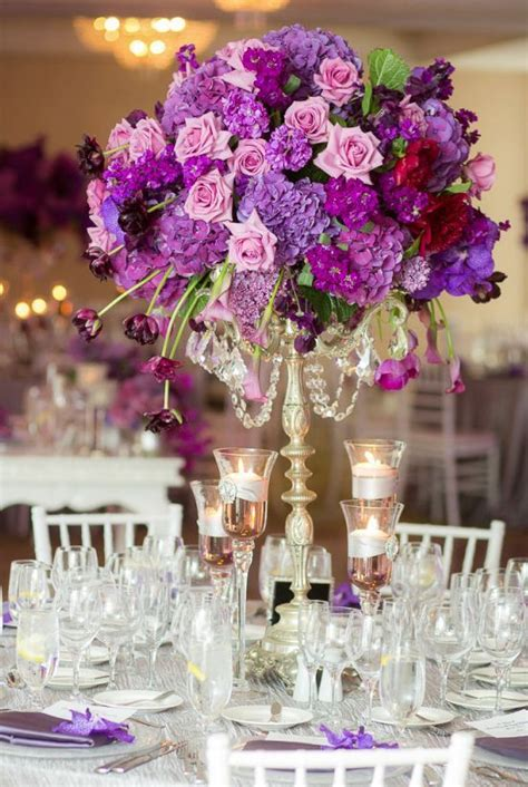 purple and gold table decorations best 25 purple wedding centerpieces ideas on