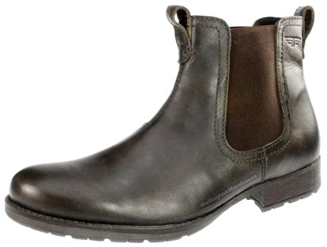 mens leather chelsea boots uk mens black or brown real leather lake chelsea