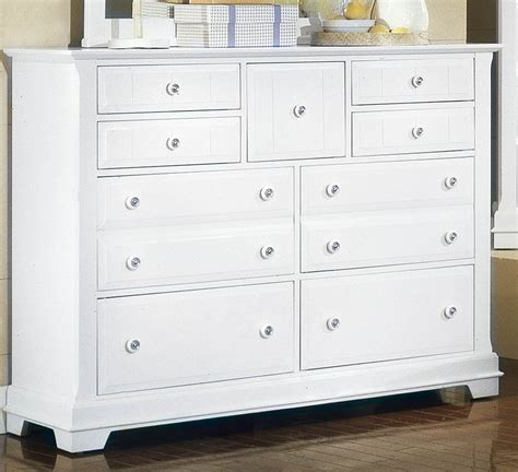 White Bedroom Dressers All American Lodge Collection 9 Drawer Dresser In Snow White