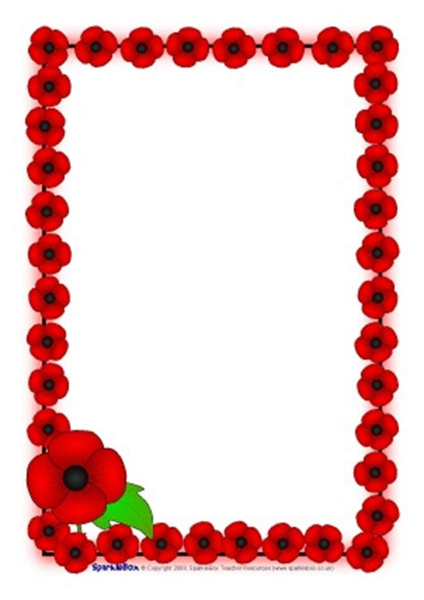 poppy writing paper remembrance day teaching resources printables for