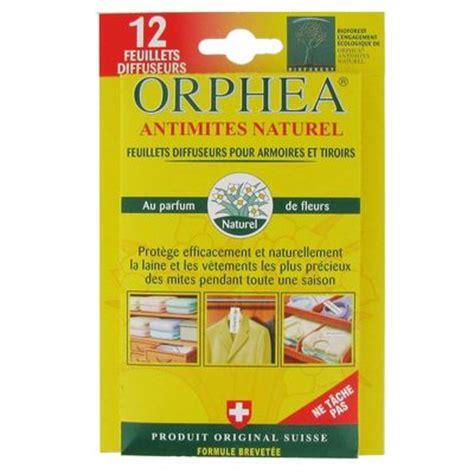 orphea anti mites feuillets diffuseurs pour armoires et