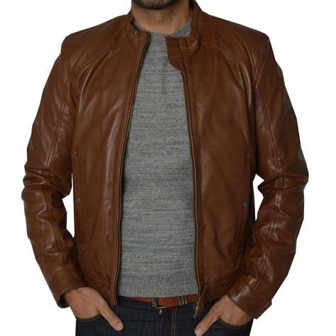 Diesel Leather Brown mens brown leather diesel jacket by ashwood the shirt store