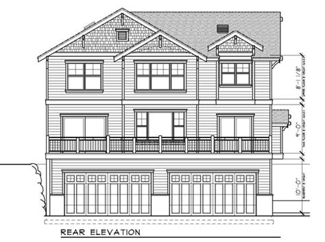bungalow floor plan with elevation house plan 91885 at familyhomeplans com