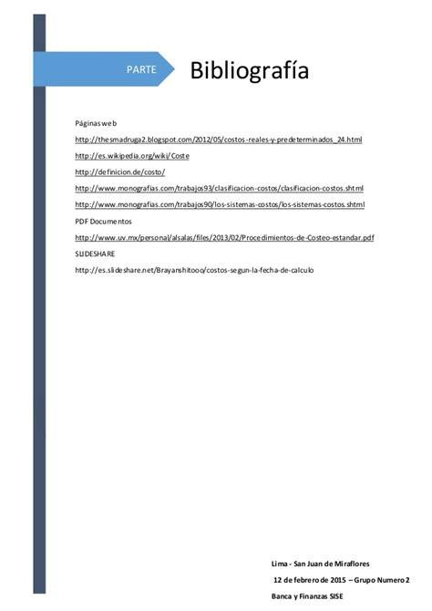 monografia de costos monograf 237 a de costos seg 250 n la fecha de c 225 lculo